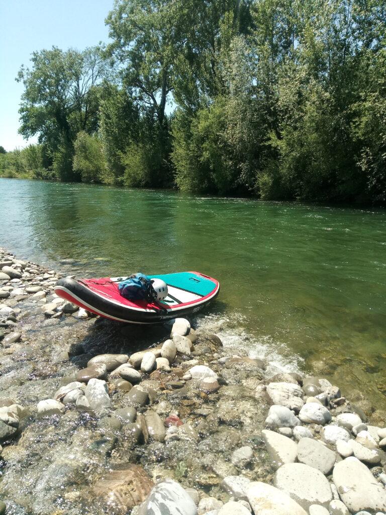 Paddleboarding in Tuscany